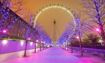 London Eye all twinkling at Christmas