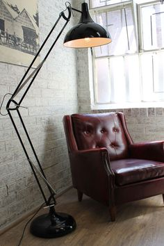 Vintage Chair and Floor Light