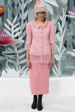 Chanel Spring Summer Couture 15 Pink Paillette Skirt
