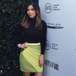 Marianna Hewitt in the Glow Get it Skirt last night in Los Angeles