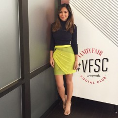 Marianna Hewitt in the Glow Get it Skirt today in Los Angeles