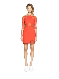 THREE FLOOR Vixen Dress. Coral = new take on primary red