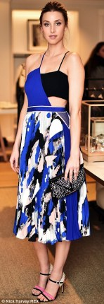 Whitney Port at the Refinery Club Monaco party wearing the prep and print dress.