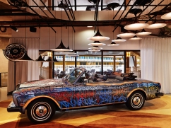 We stay at the Molitor, Paris which has a 'graffitised' Rolls-Royce in reception