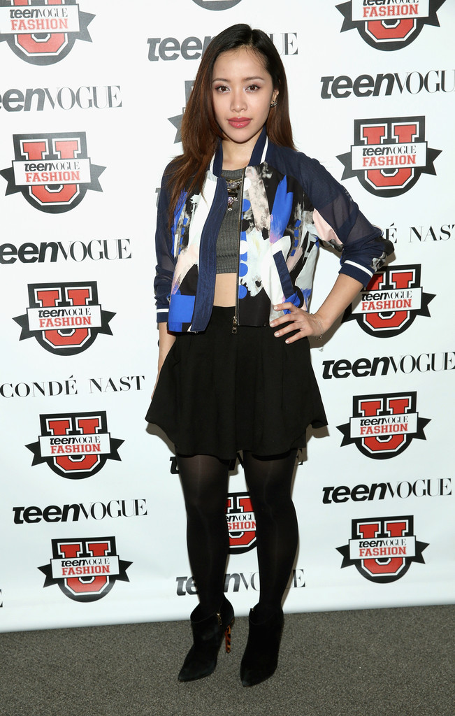 Michelle Phan at Teen Vogue's Fashion University event in THREE FLOOR's Time After Time Jacket