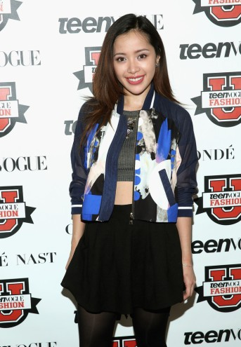 Michelle Phan rocking THREE FLOOR's Time After Time Jacketat Teen Vogue's Fashion University event