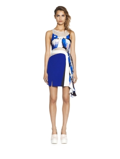 We wear the poolside glamour of the #THREEFLOOR #COLOURPLAY DRESS