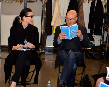 Juliana Marguiles and Patrick Steweart Back Stage at the 2014 #PoetryandtheCreativeMind