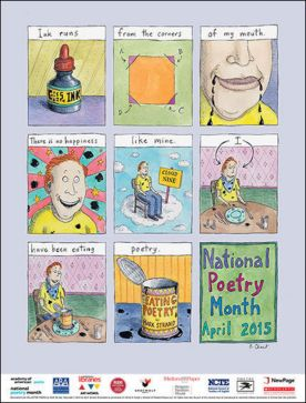 #NationalPoetryMonth Poster April 2015 by #NewYorker, #illustrator, #RozChast