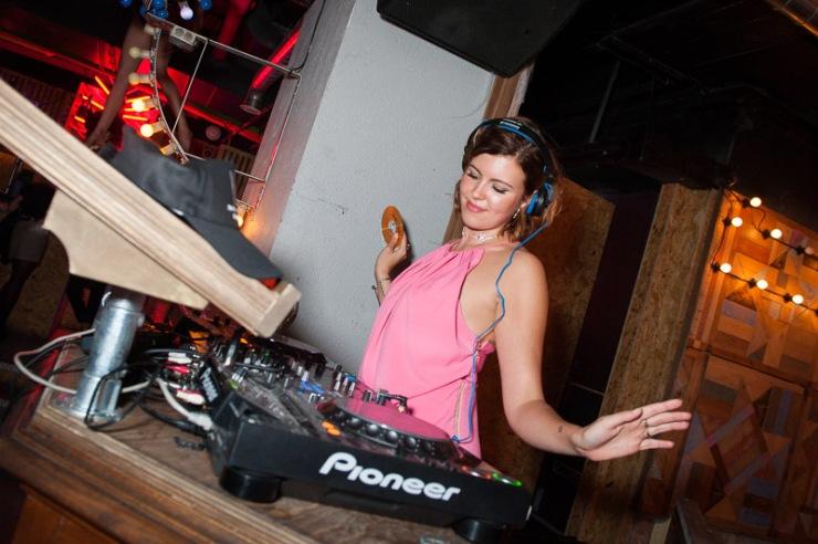 DJ, presenter, host...spins the decks at the THREE FLOOR Birthday party