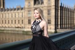 Alice of Form 42 wears Three Floor Pre-Fall Sheer Blitz playsuit