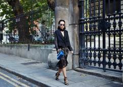 Mariko Kuo of Silk and Suits wears Three Floor Resort '16